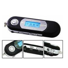 USB MP3 Player LCD Display FM Radio TF Slot - Mk02 - Black