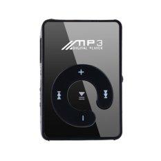 Mini Fashion Clip Sport USB Micro SD TF Mirror C Button MP3 Music Media Player (Black)