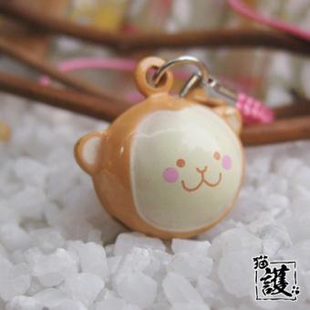 Versi korea dari cat kartun lonceng mobil gantungan kunci kalung hewan peliharaan