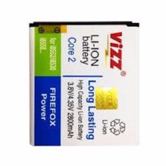 Vizz Baterai Batt Batre Battery Double Power Vizz Samsung Core 2 G355H 2600 Mah
