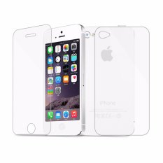 Vn Tempered Glass 9H For Apple iPhone 4S Front Back 2D Round Curved Edge Screen Protector