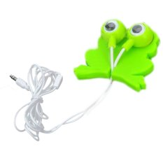 Vococal Novelty Cartoon Big Eyes Frog Style MP3 Mobile In-Earphone with Cable Winder
