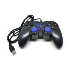 VZTEC USB Double Shock Controller Game Pad Joystick Model (VZ-GA6008) - BIRU