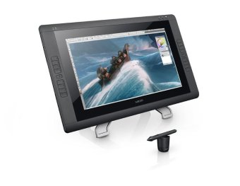Wacom Cintiq 22HD Non Touch DTK-2200 Interactive Pen Display – Hitam