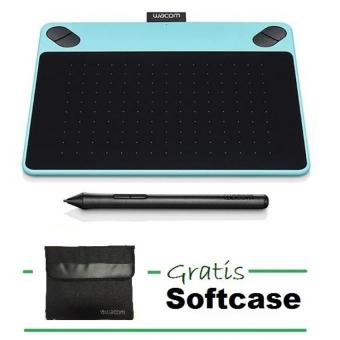 Wacom CTH-490/B0 – Intuos Art Pen & Touch Small – Mint Blue + Gratis Softcase