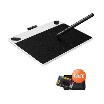 Wacom Intuos Draw CTL490 Pen Tablet – White + Gratis Softcase dan Proskin Antigores