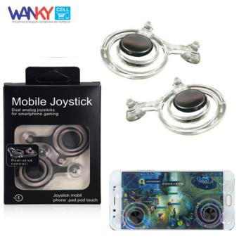 Wanky Fling Mobile Joystick Game Controller Mini For Smartphone Android iOS or Tablet - Clear