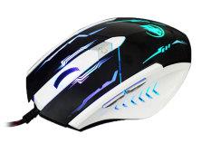 NiceEshop 7 Colour Change Light 2400DPI Wired USB 6 Keys Game Gaming Optical Mouse For PC Desktop (Black)