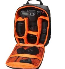 Waterproof Multi-functional Digital DSLR Camera Video Bag Small SLR Camera Bag For Photographer (Orange) - Intl