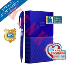 WD My Passport New Design 1TB/2.5Inch/USB3.0 - Biru + Pen