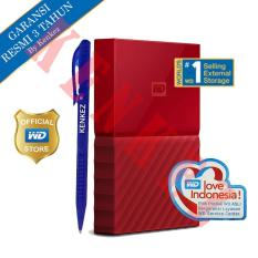 WD My Passport New Design 1TB/2.5Inch/USB3.0 - Merah + Pen
