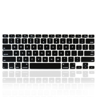Welink Fashion Silikon Keyboard Tahan Air Kami Tutup PelindungUntuk Kulit Apple Macbook Air 33.02 cm Macbook Pro 33.02 cm 38.1 cmDan Imac (Hitam)