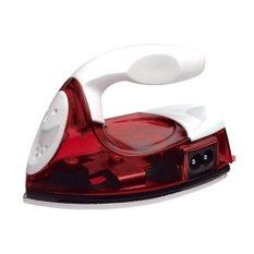 Whiz Mini Travel Iron Red - Setrika Kecil Praktis - Merah