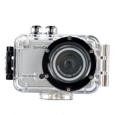 WIFI Action Camera Diving 30M Waterproof 1080P Full HD Touch Key Panel Sport DV (Silver) - Intl