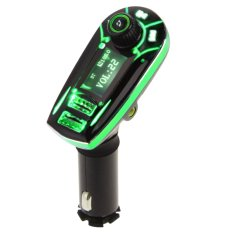 Wireless Bluetooth FM Transmitter MP3 Player Car Kit Charger Green (Intl)