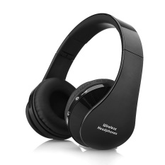 Wireless Bluetooth Headphones Stereo Foldable Handsfree Headset with Microphone For Smartphone Black (Intl)