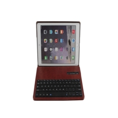 Wireless Bluetooth Keyboard Stand Case Cover Pu Leather For Apple Ipad Air 2 Brown