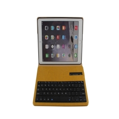 Wireless Bluetooth Keyboard Stand Case Cover Pu Leather For Apple Ipad Air 2 Yellow