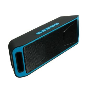 Wireless Bluetooth Speaker USB Flash FM Radio Stereo MP3 Player Support TF Card Color:Blue