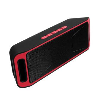 Wireless Bluetooth Speaker USB Flash FM Radio Stereo MP3 Player Support TF Card Color:Red