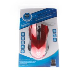 Wireless Mouse Optical Mouse 2.4GHz 1600DPI 5 Keys Design (Red) (Intl)