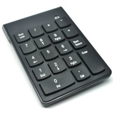 Wireless Portable Numeric Keypad Numpad 2.4GHz 10 Meter - Black