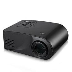X6 Mini Portable Multimedia LCD Projector Full HD 1080.480 X 320 Pixels Video Home Theater (EU PLUG) (Black) - Intl