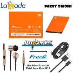 Xiaomi Baterai BM45 Original For Xiaomi Redmi Note 2 Orange + Gratis Xiaomi Handsfree Piston 2nd
