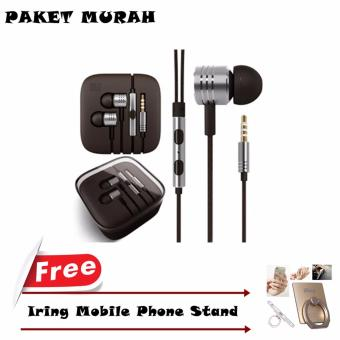 Xiaomi Earphone Piston 2nd Generation + GRATIS iRing Mobile Phone Stand - Silver