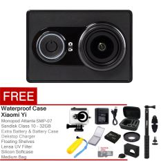 Xiaomi Yi Action Camera - 16 MP - Hitam + Complete Package