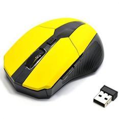YBC USB Wireless Optik mouse 5 tombol komputer laptop untuk Gaming Mouse (Kuning)