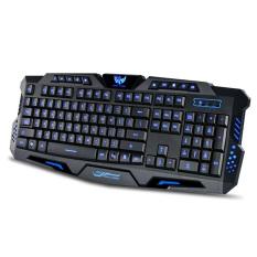 YDL-G-1 USB 2.0 Wired 114-Key Backlit Gaming Keyboard - Black