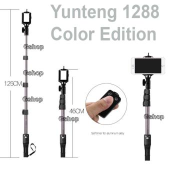 Yunteng YT-1288 Color Edition Monopod Tongsis 1288 with BluetoothFunction + U Holder