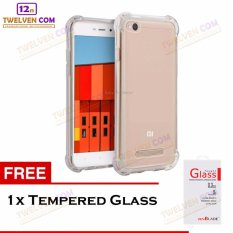 Zenblade Anti Shock Anti Crack Softcase Casing for Xiaomi Redmi 4A + Free Tempered Glass