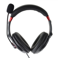 ZUNCLE Stylish USB 2.0 Stereo Headset Headphone with Microphone Speaker (Black) (3.5mm Jack / 200cm Cable)