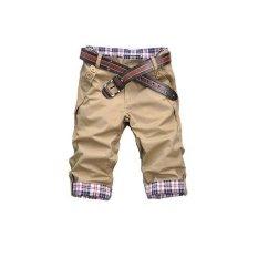 2015 Hot Sale Men's Fashion Summer Wear Pants Male Casual Solid Comfortable ShortKhaki (Intl)
