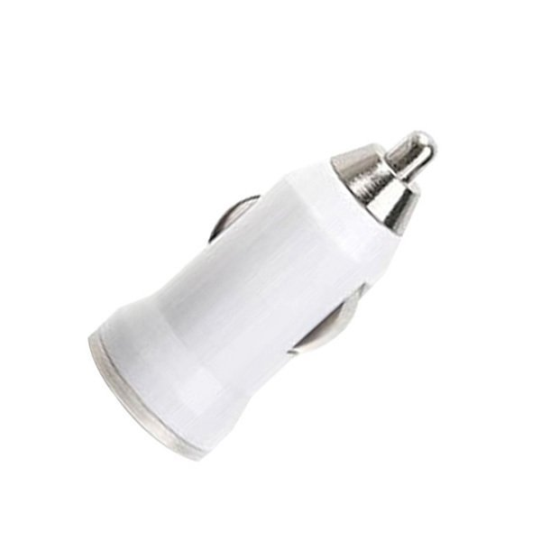 2016 High Quality Mini Universal Dual USB Car Charger Adapter Bullet (White) (Intl)