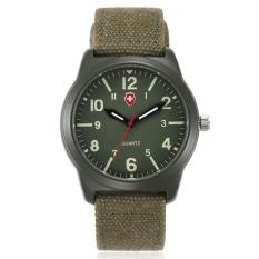 2016 New Canvas Wristband Quartz Watch Luminous Watch Sports Watch-Green