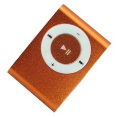 2016 New High Quality MINI Clip MP3 Player With Micro TF / SD Card Slot Sports Mini MP3 (Orange)