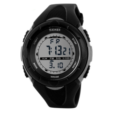 2016 New Skmei Brand Men LED Digital Military Watch, 50M Dive Swim Dress Sports Watches Fashion Outdoor Wristwatches (Grey)