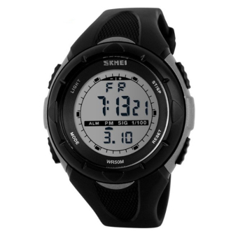 2016 New Skmei Brand Men LED Digital Military Watch, 50M Dive Swim Dress Sports Watches Fashion Outdoor Wristwatches (Grey)