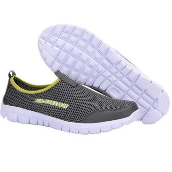2016 New Spring Summer Women Casual Shoes Fashion Solid Breathable Air Mesh Lightweight Flat Walking Shoes Chaussure Femme (Black) - Intl
