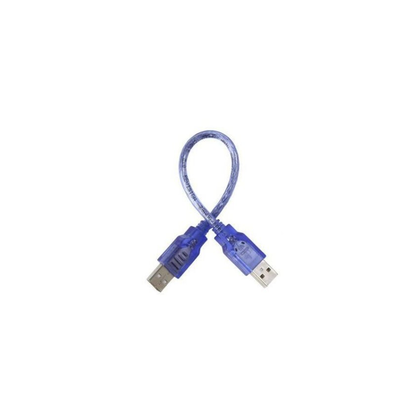 23cm High Speed AM to AM USB Cable Blue