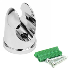 23mm Bathroom Accessories Shower Head Wall Mount Fixed Bracket Holder Silver - Intl