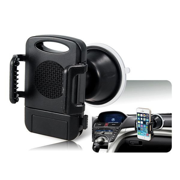 258 Universal Mobile Cell Phone Car Phone GPS Navigation Holder Windshield Mount Holder (Black)
