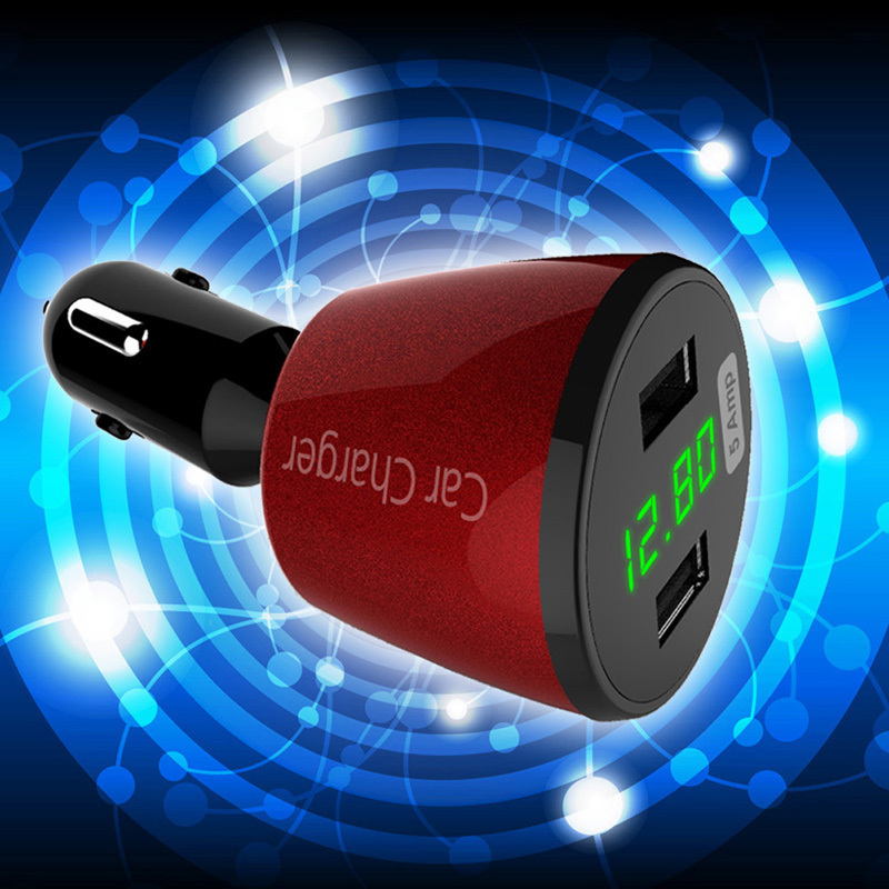 25W 5A 2-Port Dual USB Car Charger  Voltage (Red) (Intl)