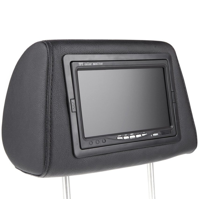 2pcs 7  HD 800*480 TFT LCD Car Pillow Automobile Headrest Universal Monitor Built-in Screen (Intl)