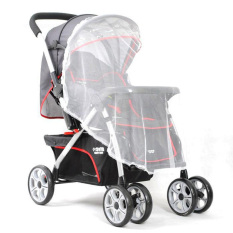 2PCS Universal Baby Car Carriage Insect Mosquito Net Baby Stroller Cradle Bed Net (White) (Intl)
