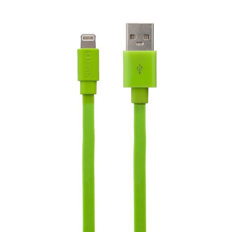 2x Apple MFi 1.5M Flat Lightning Sync Charge iPhone iPhone USB Cable (Green)