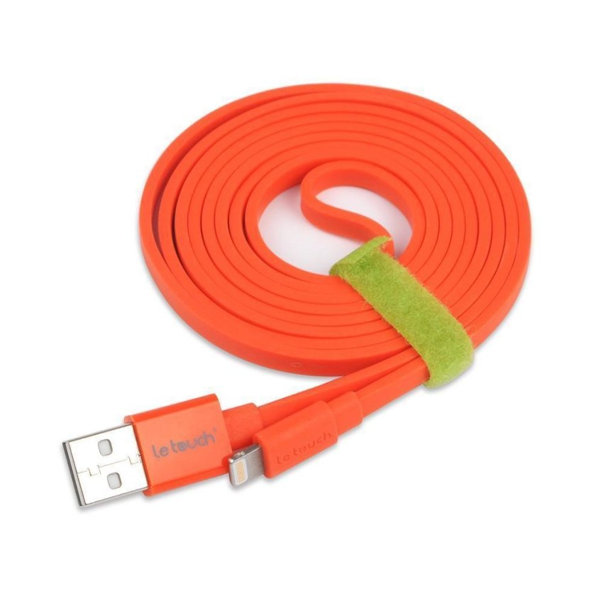 2x Apple MFi 1.5M Flat Lightning Sync Charge iPhone USB Cable (RED)
